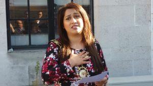 Mayor Nadia Shah addresses the crowd